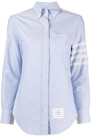 Thom Browne Women Long sleeves - 4-Bar long sleeve button down shirt