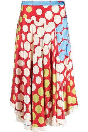 Marni Women Asymmetrical Skirts - Polka dot skirt