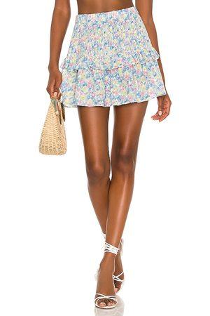 LOVESHACKFANCY Ignacia Skirt in Baby Blue.