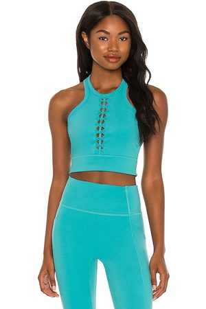 Le ORE Lucca Racer Front Bra in Teal.