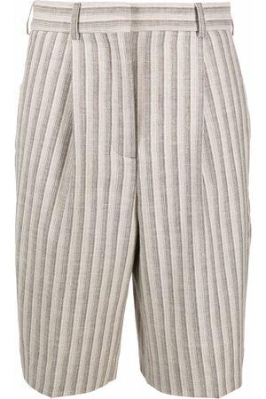 Acne Studios Women Midi Skirts - Striped knee-length shorts - Neutrals