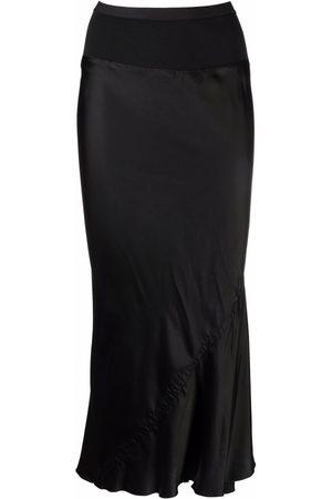 Rick Owens Women Midi Skirts - Asymmetric bias-cut midi skirt