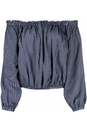 Rag & Bone Women Strapless Tops - Striped off-shoulder blouse