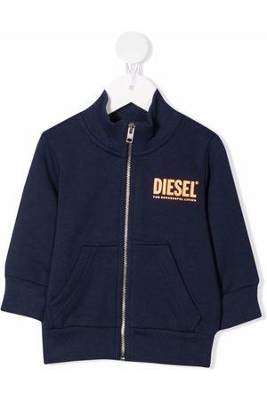 Diesel Kids Logo-print cotton bomber jacket