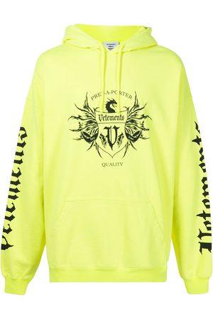 Vetements Men Hoodies - Logo-print pullover hoodie