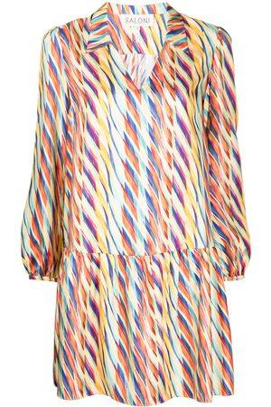 SALONI Women Casual Dresses - Abstract-print shirt dress