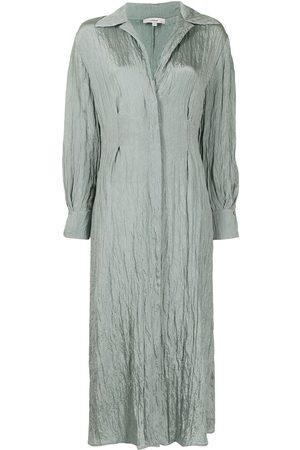 Vince Women Casual Dresses - Crinkled shirt dress