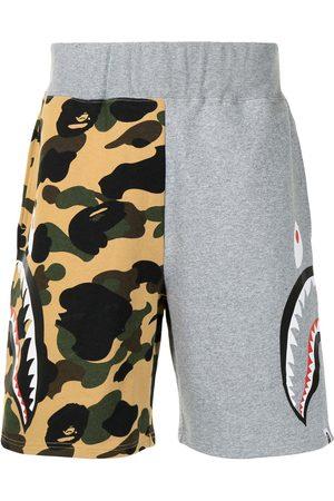 A Bathing Ape Shark camouflage-print cotton track shorts