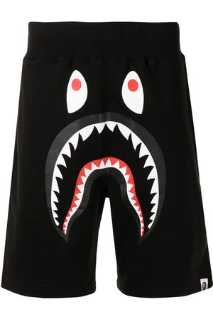 A Bathing Ape Men Sports Shorts - Shark-print track shorts