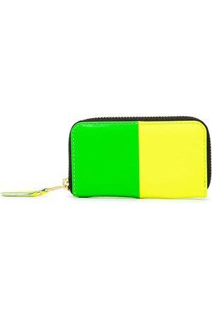 Comme des Garçons Wallets - Colour-block zip-around wallet