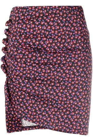 Paco rabanne Women Printed Skirts - Ruched-side floral-print mini skirt