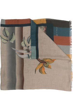 ETRO Floral print cashmere-blend scarf - Neutrals