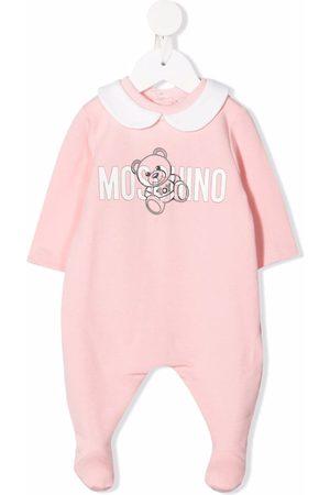 Moschino Kids Pajamas - Logo-print long-sleeved pajama