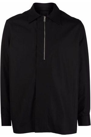 Givenchy Half-zip poplin shirt
