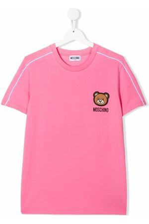 Moschino Girls T-shirts - Toy Bear patch T-shirt