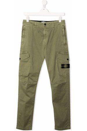 Stone Island TEEN straight-leg cargo trousers