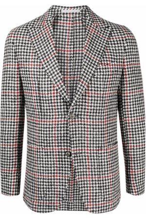 ELEVENTY Men Blazers - Houndstooth single-breasted blazer