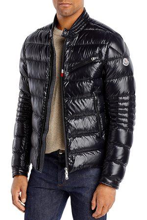 Moncler Men Leather Jackets - Baunard Down Biker Jacket