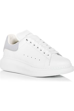 Alexander McQueen Women Platform Sneakers - Women's Oversized Suede Heel Detail Sneakers