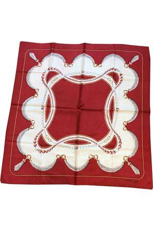 Cartier Women Scarves - Burgundy Silk Scarves