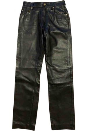 Hermès Leather Trousers