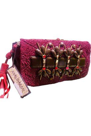 Maliparmi Burgundy Leather Clutch Bags