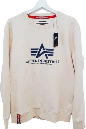 Alpha Industries Ecru Cotton Knitwear & Sweatshirts