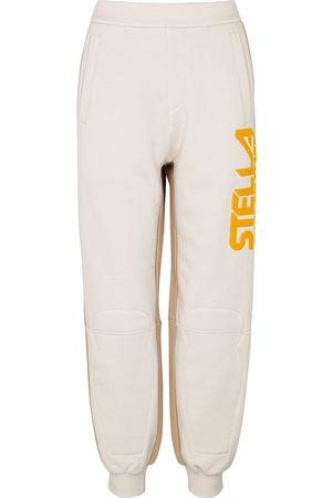 Stella McCartney Ecru panelled cotton and shell sweatpants