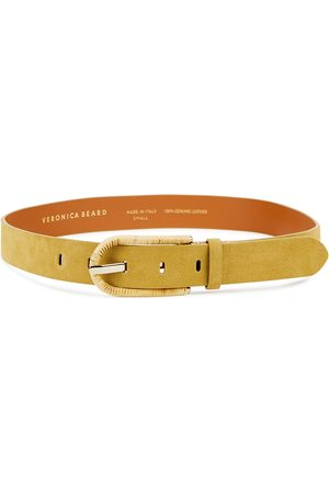 VERONICA BEARD Bekah mustard suede belt