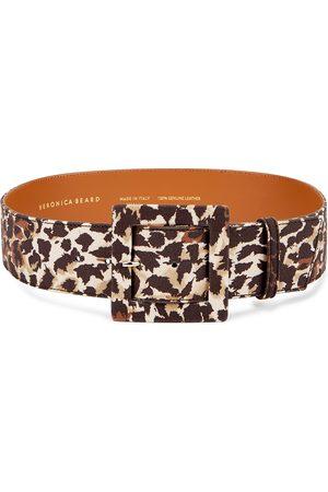 Veronica Beard Rickie leopard-print canvas belt