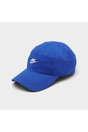 Nike Kids' Sportswear Heritage86 Futura Adjustable Hook-and-Loop Closure Hat in Blue/Coast 100% Cotton