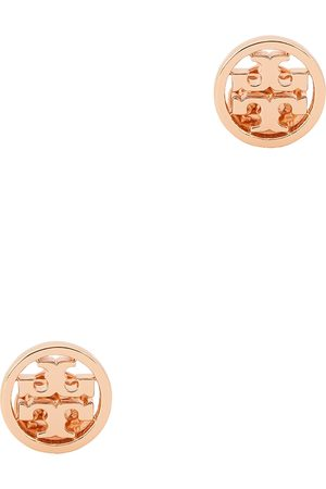 Tory Burch Miller logo rose gold-tone stud earrings
