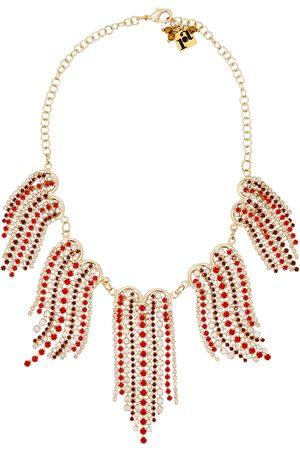 ROSANTICA Batticuore fringed crystal-embellished necklace
