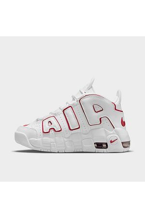 Nike Boys' Little Kids' Air More Uptempo Basketball Shoes in / Size 1.0 Leather