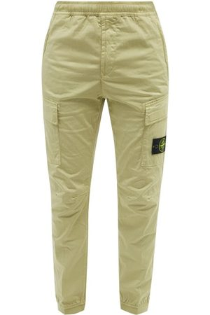 Stone Island Logo-pocket Cotton-blend Twill Cargo Trousers - Mens