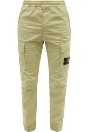 Stone Island Men Cargo Pants - Logo-pocket Cotton-blend Twill Cargo Trousers - Mens