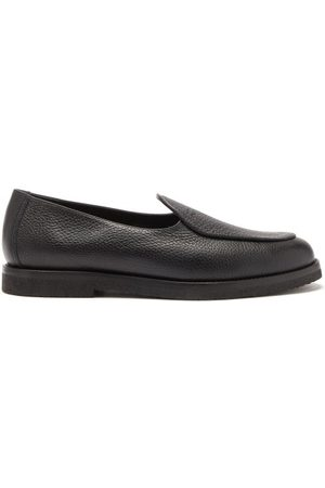 Jacques Alexis Debossed-logo Grained-leather Loafers - Mens
