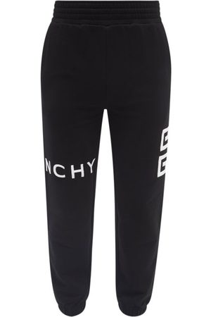 Givenchy Logo-embroidered Cotton-jersey Track Pants - Mens