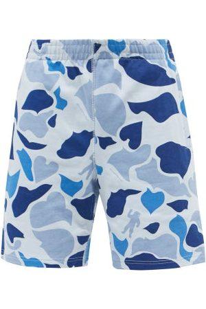 Billionaire Boys Club Men Shorts - Camouflage-print Cotton-jersey Shorts - Mens