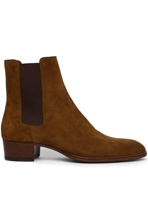 Saint Laurent Wyatt Suede Chelsea Boots - Mens