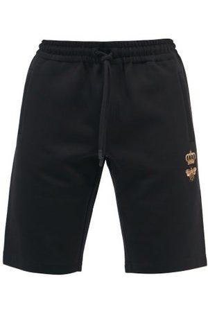 Dolce & Gabbana Logo-embroidered Cotton-blend Jersey Shorts - Mens