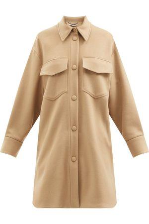 Stella McCartney Women Jackets - Kerry Patch-pocket Wool Jacket - Womens - Camel