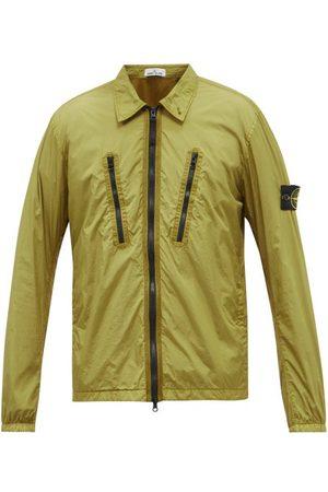 Stone Island Zipped Technical-shell Overshirt Jacket - Mens