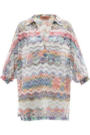 Missoni Women Beach Dresses - Zigzag-jacquard Knit Kaftan - Womens - Multi