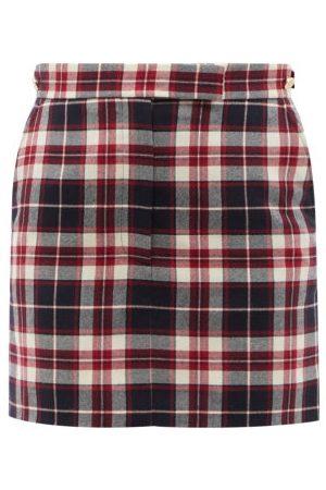 Thom Browne Checked Wool-flannel Mini Skirt - Womens - Multi