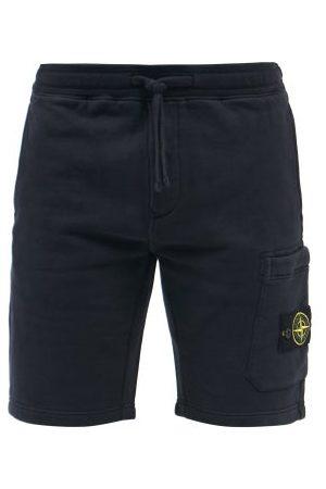Stone Island Felpa-jersey Bermuda Shorts - Mens - Navy