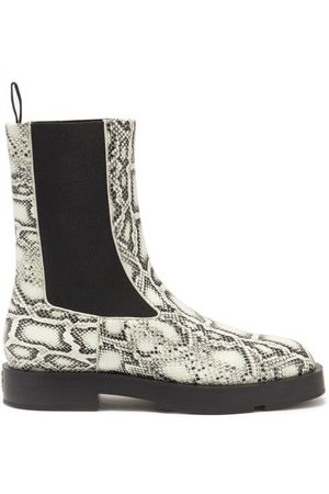 Givenchy Men Chelsea Boots - Python-effect Leather Chelsea Boots - Mens