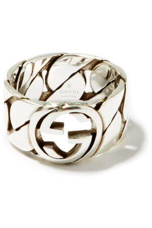 Gucci Men Rings - GG-logo Sterling- Chain Ring - Mens