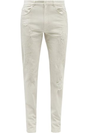 Givenchy Distressed Slim-fit Jeans - Mens