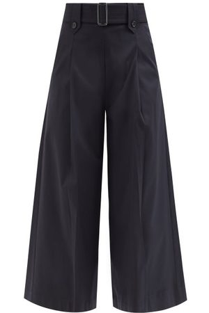 Max Mara Grembo Trousers - Womens - Navy